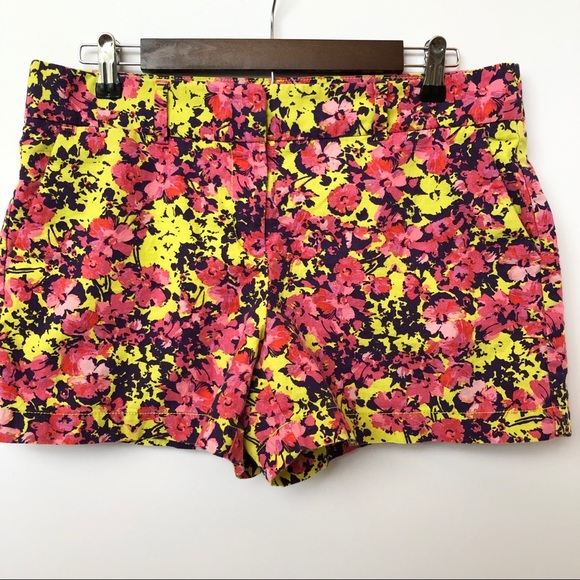 LOFT Pants - Ann Taylor Loft Colorful Floral Shorts • Size 8